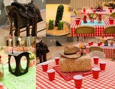 cub scouts, western parti, cacti, birthdays, cowboy parti, 60 birthday, parti idea, blues, themed parties