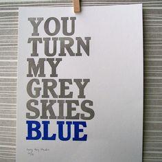 grey sky, idea, sky blue, cobalt blue, blue skies, blue home, quot, print, blues