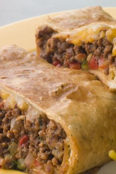 Streamlined Ground Beef Chimichangas, might have pinned this before also, but just in case! Looks pretty simple too.