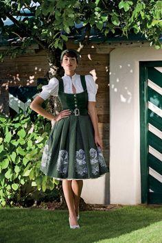 Absolutely lovely! Mothwurf F/S 2012. #dress #German #Austrian #folk #traditional #costume #Oktoberfest #green