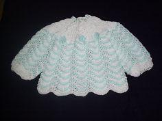 Receita de Tricô: Casaquinho de bebê em trico