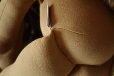 dart in torso to create a sitting doll - fig and me