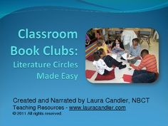 FREE Classroom Book Clubs: Literature Circles Made Easy Intro (Narrated slidecast video)