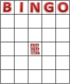 Free Printable Blank Bingo Cards   BingoCard_Red_Blank
