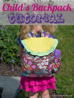 DIY childs backpack tutorial by @Beckie 'beckerella' Munson Farrant {infarrantly creative}! #Amybutler