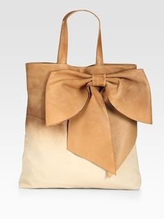 RED Valentino  Ombre Leather Bow Tote