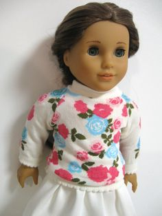 American girl doll clothes   Dainty Floral by 123MULBERRYSTREET