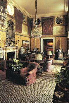 Princess Firyal's Grand Salon, London. Renzo Mongiardino
