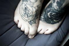 feet tattoos, ankle tattoos, foot tattoo, rose tattoos, foottattoo, design, flower, ink, black roses