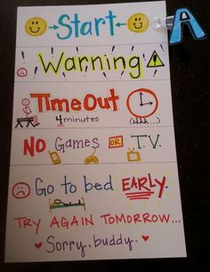 Child Behavior Chart for Home - I need something like this!!