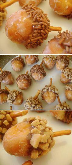 50 Cute  Treats ~ donut acorns!!