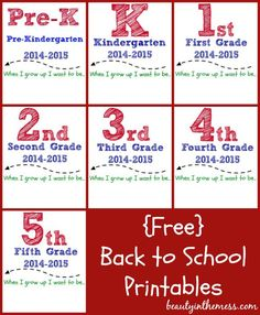 Back to School Printables FREE - Beauty in the Mess
