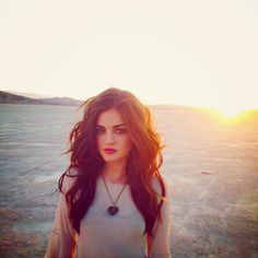 I want Lucy Hale's hair color!