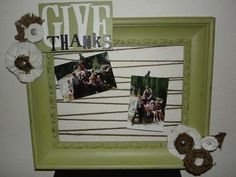 Homemade Picture Frame- Would be great for Christmas Cards <3