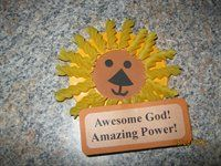 Daniel and the Lion's Den magnet idea with pasta!