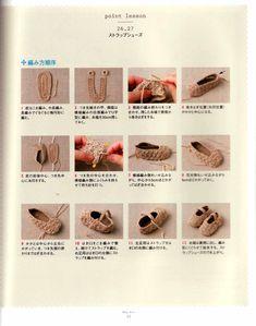 Escarpines a crochet - Las Manualidades