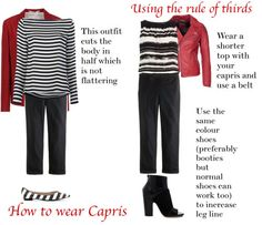 applying the rule of thirds to wearing capris | 40plusstyle.com