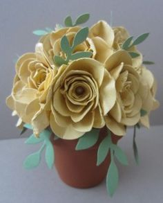 Stampin Up Spiral flower die to make this gorgeous pot of flowers.