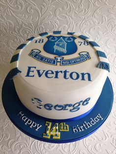 Everton cake.