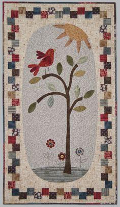 wallhang, patchwork appliqu, mini quilti