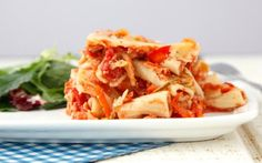 Crock Pot Vegetable Ziti | A slow cooker take on the classic baked ziti