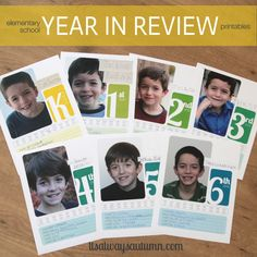 it's always autumn - itsalwaysautumn - elementary school year in review printable divider pages