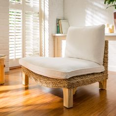 Natural Base with White Cushions