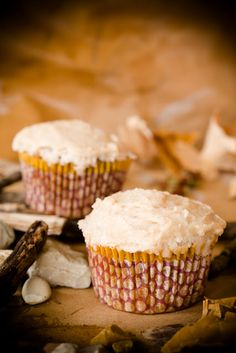 Paleo Carrot Cupcake Recipe. Gluten-free, grain-free, dairy-free