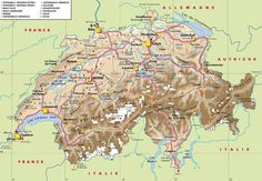 Image detail for -Travel Map of Map of switzerland