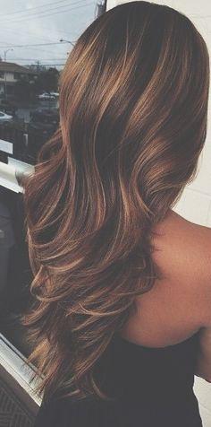 long loose curls & color!