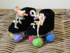 Baby roller derby rollerskates crochet baby by LottiesCreations, £10.00