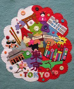 Tokyo all stitched together by Annie Montgomerie, via Flickr