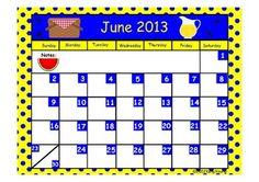 Printable School Year Calendars PDF