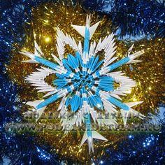Paper 3D three-dimensional snowflake TUTORIAL