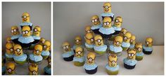 Despicable Me Theme: The Musings of an Intentional Mommy: awesome despicable me birthday party: Cupcakes
