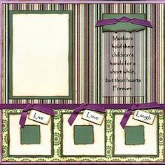 scrapbook page ideas | Premade Scrapbook Pages