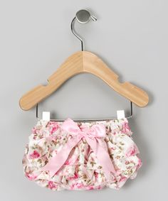 Vintage Rose Ruffle Diaper Cover on #zulily