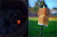first fire // on the blog