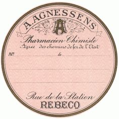 vintage pharmacy tag