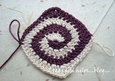 Bigú Handmade: Granny en espiral y un garabato...
