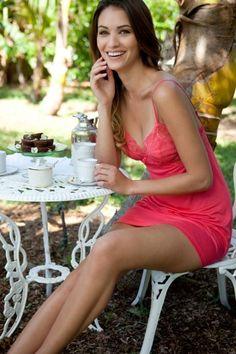 Spa Solage's Favorite Things - Eberjey Intimates - Mila Chemise eberjey intim, mila wwwsollingeriecom, wwwfigleavescom lingeri, beauti eberjey, spa solag, lingeri nightwear, blog, mila chemis, eberjey mila