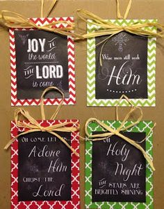Sweet Blessings: FREE Christmas Chalkboard Printables to use as tags or ornaments