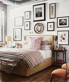 decor, idea, beds, galleri, frames, gallery walls, bedrooms, design, art walls