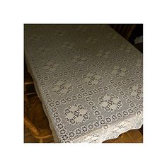 Web-in-the-Corner #A-896 free crochet tablecloth pattern