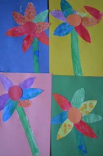 Making Flowers with PAINTED PAPER!-  Pinned by @PediaStaff – Please Visit http://ht.ly/63sNt for all our pediatric therapy pins
