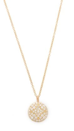The Small Aladdin Disc Necklace adds to any outfit- you never have to take it off! fashion, small pave, necklac add, disc necklac, aladdin disc, necklaces, small aladdin
