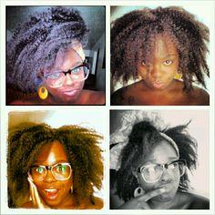 Oh I love this kinky look of crochet braids using Marley hair!