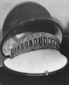 Aquamarine and Diamond Kokoshnik which once belonged to Alexandra Feodorovna