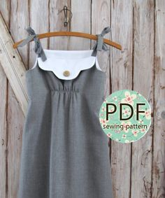 Annie - Vintage Style Girl's Dress Pattern PDF Tutorial, Girl's Sewing pattern