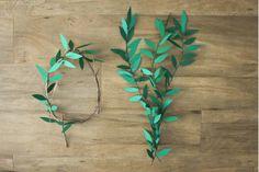 Paper wreath garland | Hello Hydrangea